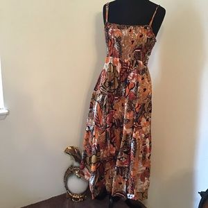 Floral Printed Boho Tiered Maxi Dress